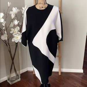 MaxMara black and white dress